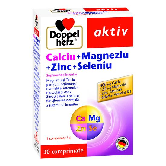 Doppelherz aktiv Calciu + Magneziu + Zinc + Seleniu, 30 comprimate [0]