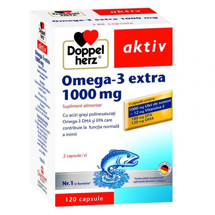 Doppelherz aktiv Omega-3 Extra 1000 mg, 120 capsule [0]