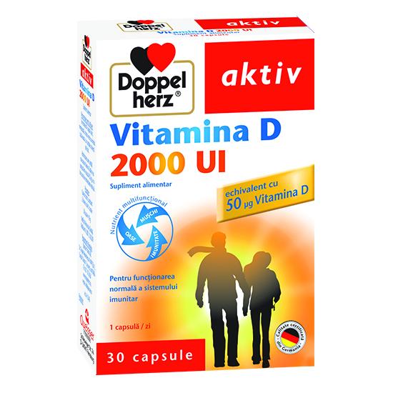Doppelherz aktiv Vitamina D 2000 UI, 30 capsule [0]