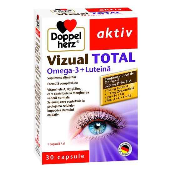 Doppelherz aktiv Vizual Total cu Omega-3 + Luteină, 30 capsule [0]