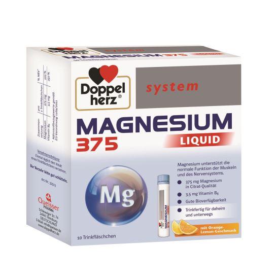 Doppelherz system Magneziu 375 mg LICHID, 10 flacoane unidoză [0]