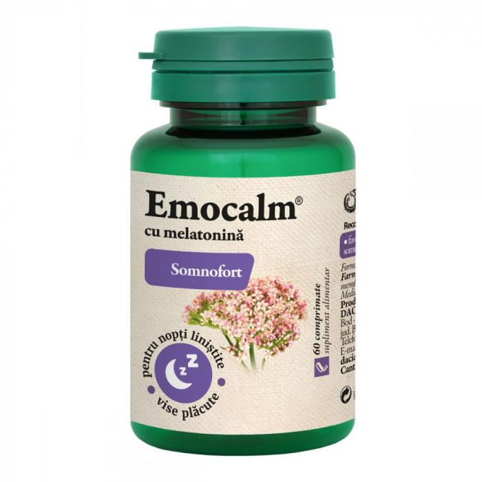 Emocalm cu Melatonina (Somnofort), 60 comprimate, Dacia Plant [1]
