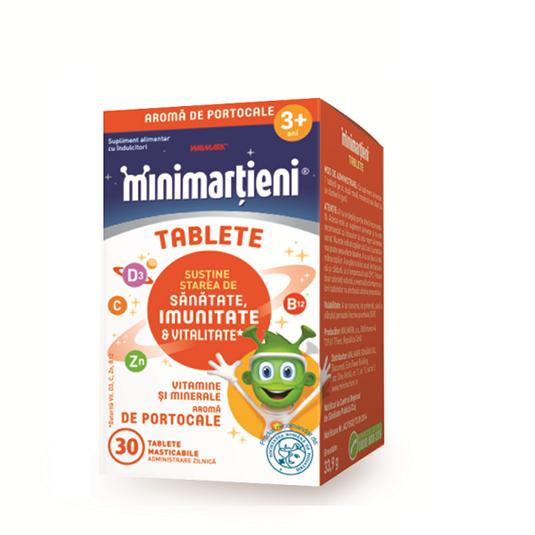 Minimarțieni Imunactiv cu aroma de portocale x 30 tablete masticabile [0]
