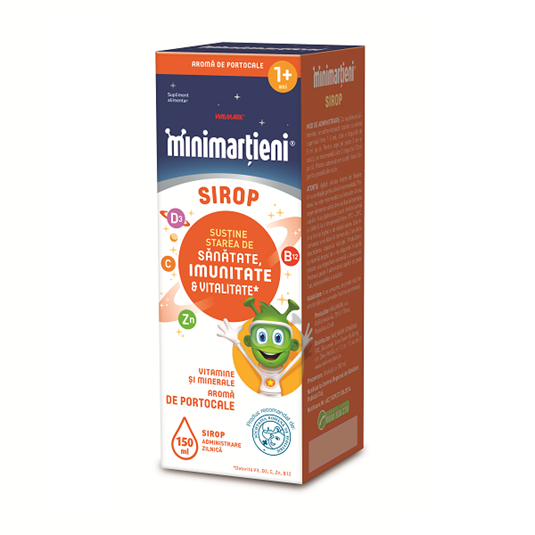 Minimarțieni Imunactiv Sirop cu aroma de portocale, 150 ml [0]