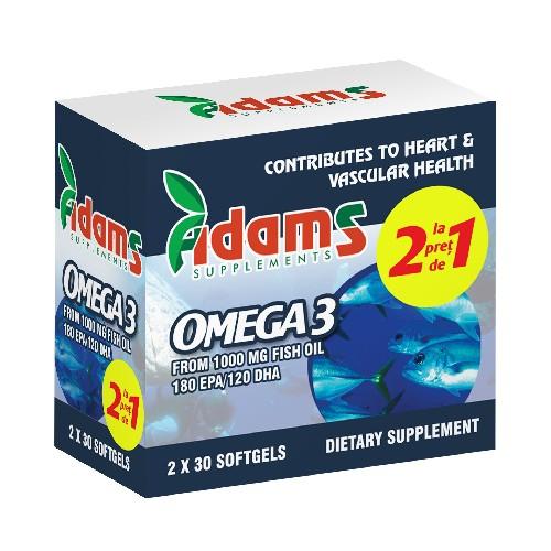 Pachet Omega 3 1000mg x 30cps Adams 1+1 GRATUIT [0]
