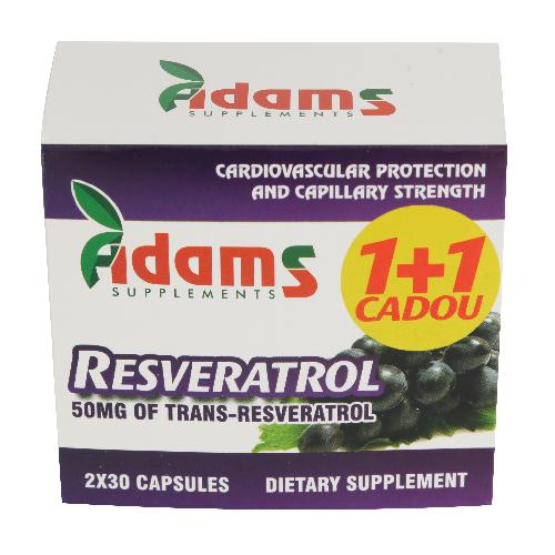 Pachet Resveratrol 50mg 30capsule 1+1 GRATIS [0]