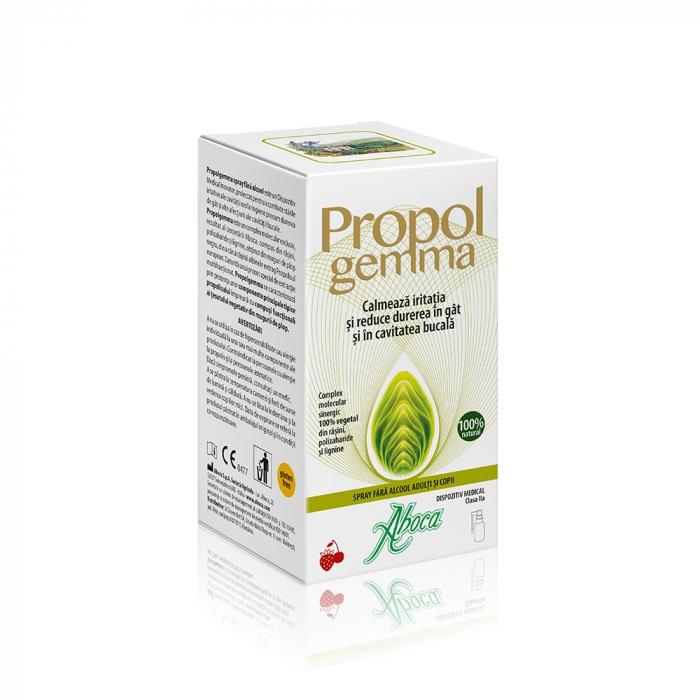 Propolgemma spray de gât fără alcool pentru adulți și copii, 30 ml, Aboca [0]
