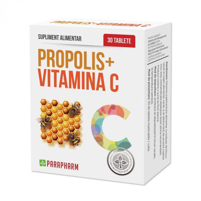Propolis + Vitamina C, 30 tablete [0]