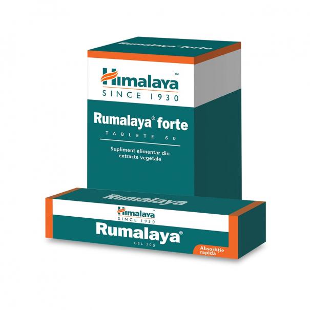 Pachet Rumalaya Forte x 60 cp + Rumalaya gel x 30 g [0]