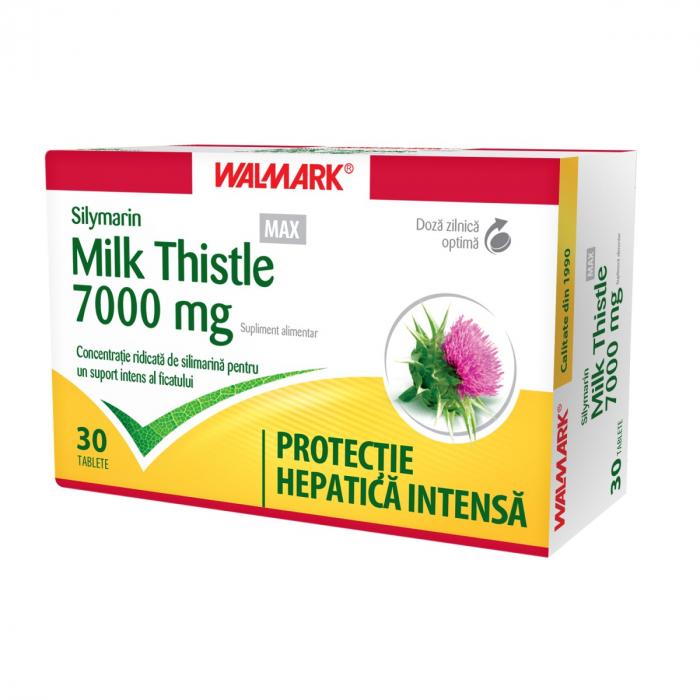 Silymarin Milk Thistle MAX 7000 mg, 30 comprimate filmate [0]