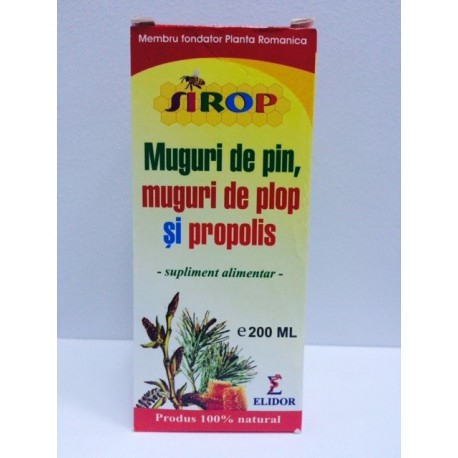 Sirop muguri de pin, muguri de plop și propolis, 200 ml, Elidor [0]