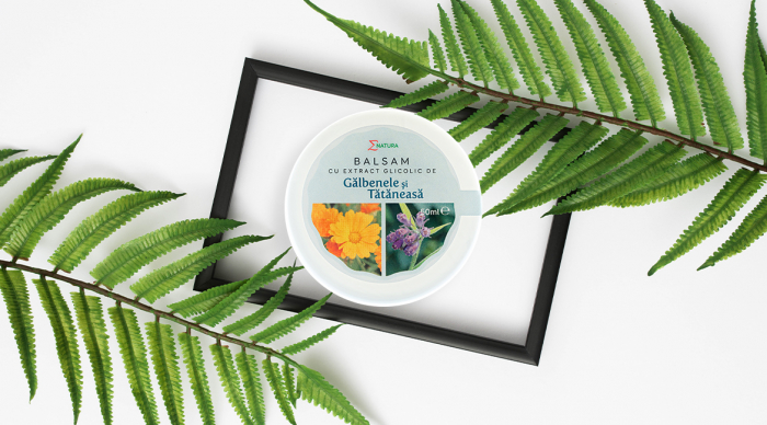 Balsam cu extract glicolic de gălbenele şi tătăneasă - cutie 50 ml, ∑NATURA [0]