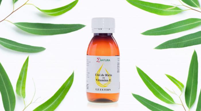 Ulei de ricin cu vitamina E (Uz Extern) x 50ml, ∑NATURA [0]