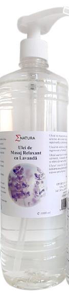 Ulei de masaj relaxant cu lavandă x 1000 ml, ∑NATURA [0]