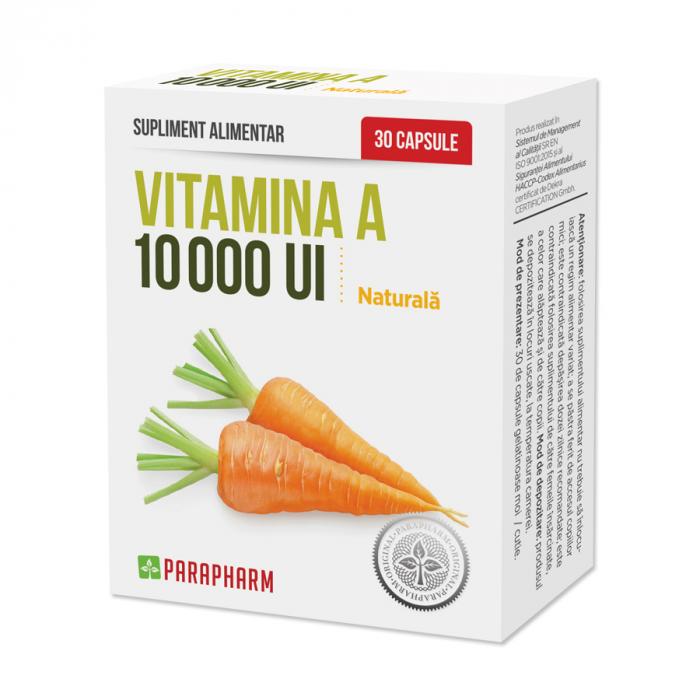 Vitamina A naturala 10 000 UI, 30 capsule [0]