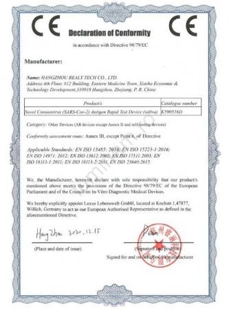 SET x 5 buc Kit Test Antigen Covid -19 rapid din saliva Realy Tech [5]