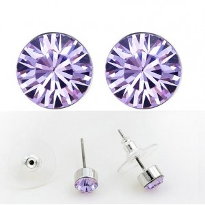 Cercei SHINE violet deschis cu cristale swarovski 0
