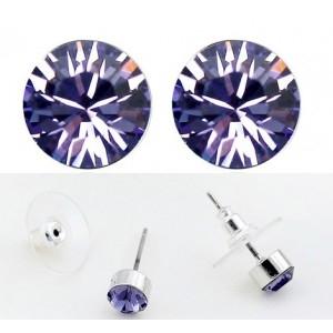 Cercei SHINE violet inchis cu cristale swarovski [0]