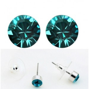Cercei SHINE turquoise  cu cristale swarovski 0
