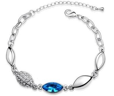 Bratara WATER DROP blue cu cristale Swarovski 0