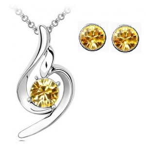 Set SOFT yellow cu cristale swarovski 0