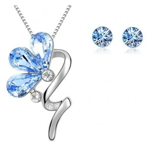 Set BLOOM SHINE lightblue cu cristale swarovski 0