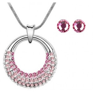 Set MOONLIGHT SHINE rose cu cristale swarovski 0