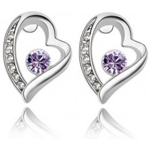 Cercei FOREVER violet cu cristale Swarovski 0