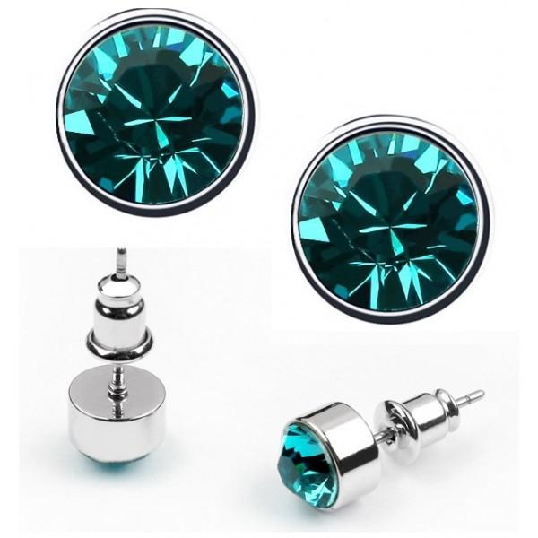 Cercei BRIGHT turquoise  cu cristale swarovski 0