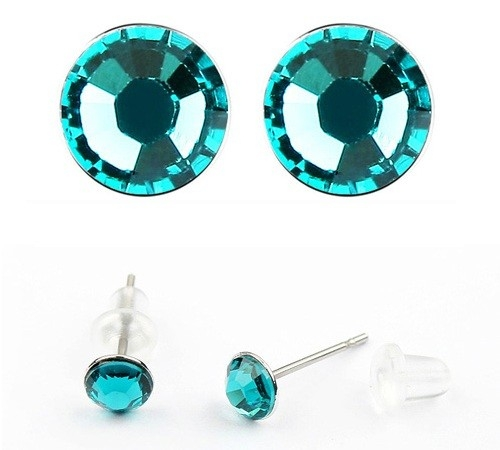 Cercei LITTLE SHINE turquoise  cu cristale swarovski 0