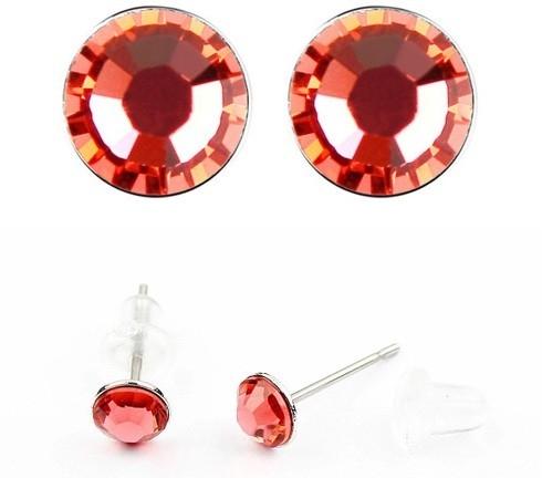 Cercei LITTLE SHINE red cu cristale swarovski 0
