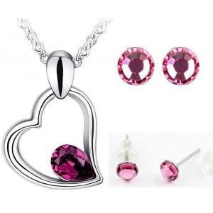 Set EXPENSIVE HEART SHINE purple cu cristale swarovski [0]