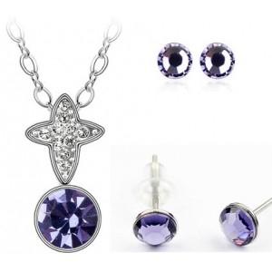 Set TRIUMFAL SHINE violet cu cristale swarovski 0
