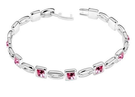 Bratara SQUARE rose cu cristale, garantie produs 6 luni 0