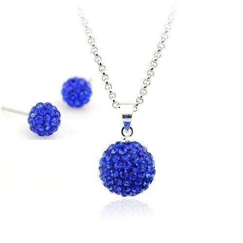 Set bijuteriii SHAMBALA blue-capri cu cristale 0