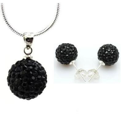Set bijuteriii SHAMBALA negru  cu cristale 0