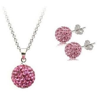 Set bijuteriii SHAMBALA rose cu cristale 0