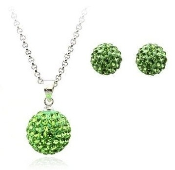 Set bijuteriii SHAMBALA green-verde cu cristale 0