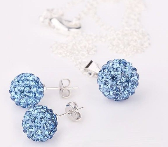 Set bijuteriii SHAMBALA lightblue cu cristale 0