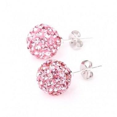 Cercei SHAMBALA rose cu cristale 0