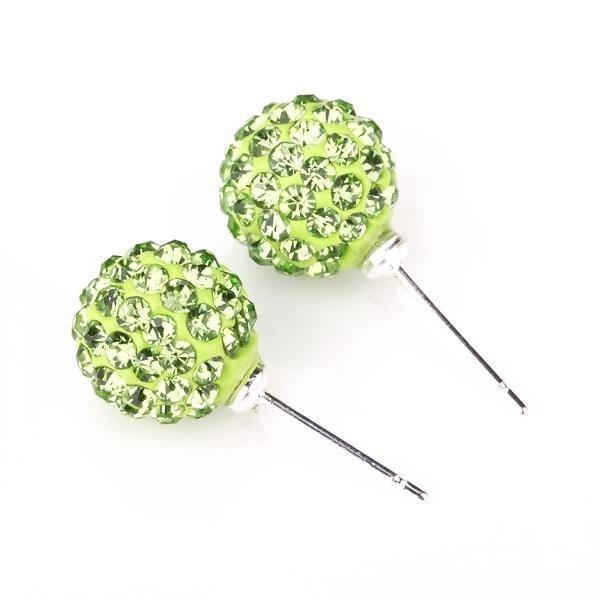 Cercei SHAMBALA verde cu cristale 0