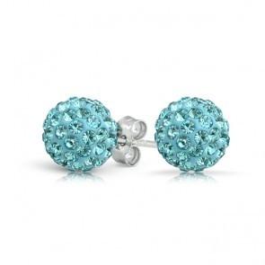 Cercei SHAMBALA aquamarine cu cristale swarovski 0