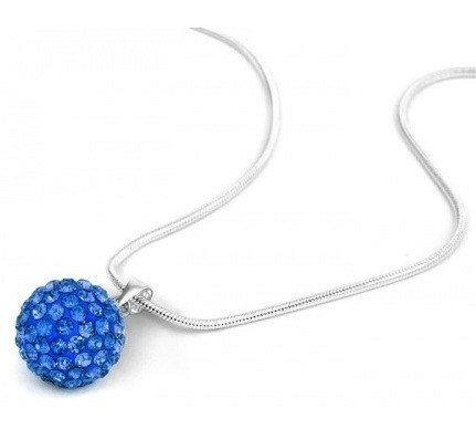 Pandant SHAMBALA BLUE CAPRI  cu cristale 0