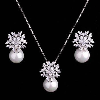Set de bijuterii cu cristale White Star placat cu aur 18k [0]