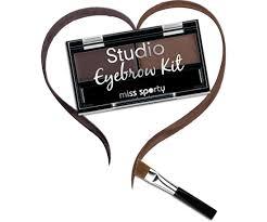 Paleta de farduri pentru sprancene Miss Sporty Studio Eyebrow Brown, 2.4 g [1]