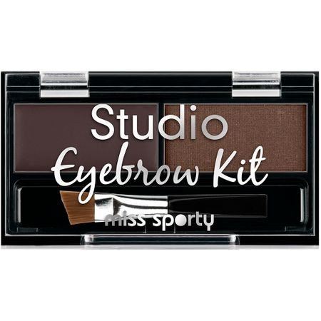 Paleta de farduri pentru sprancene Miss Sporty Studio Eyebrow Brown, 2.4 g 0