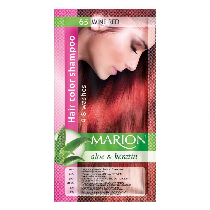 Șampon nuanțator pentru păr cu aloe Marion 65 – red wine [0]
