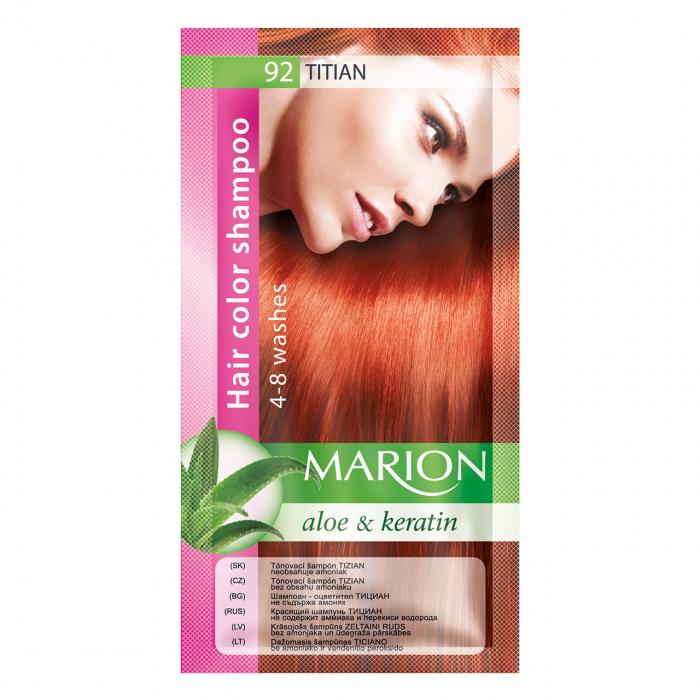 Șampon nuanțator pentru păr cu aloe Marion 92 – titian [0]