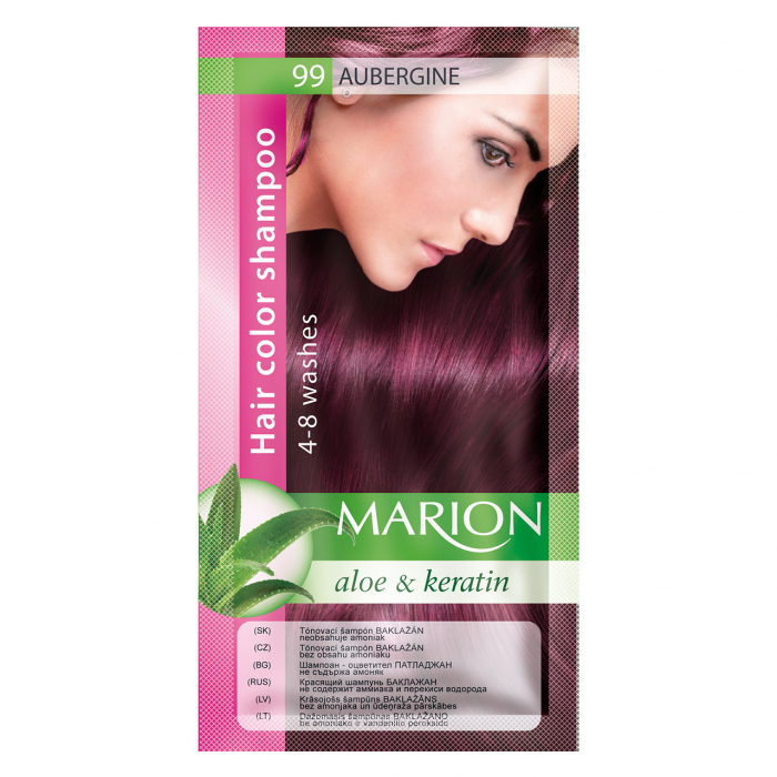 Șampon nuanțator pentru păr cu aloe Marion 99 – aubergine [0]