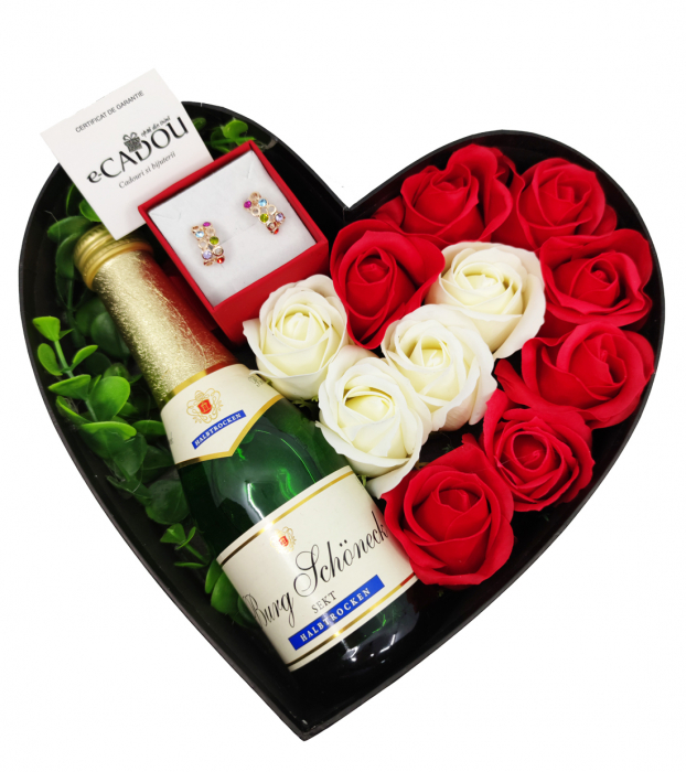 Aranjament floral cu 11 trandafiri din sapun AC-R113-Aniela multicolor [0]